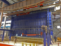 The new furnace is designed for an annual production of 80,000 t.